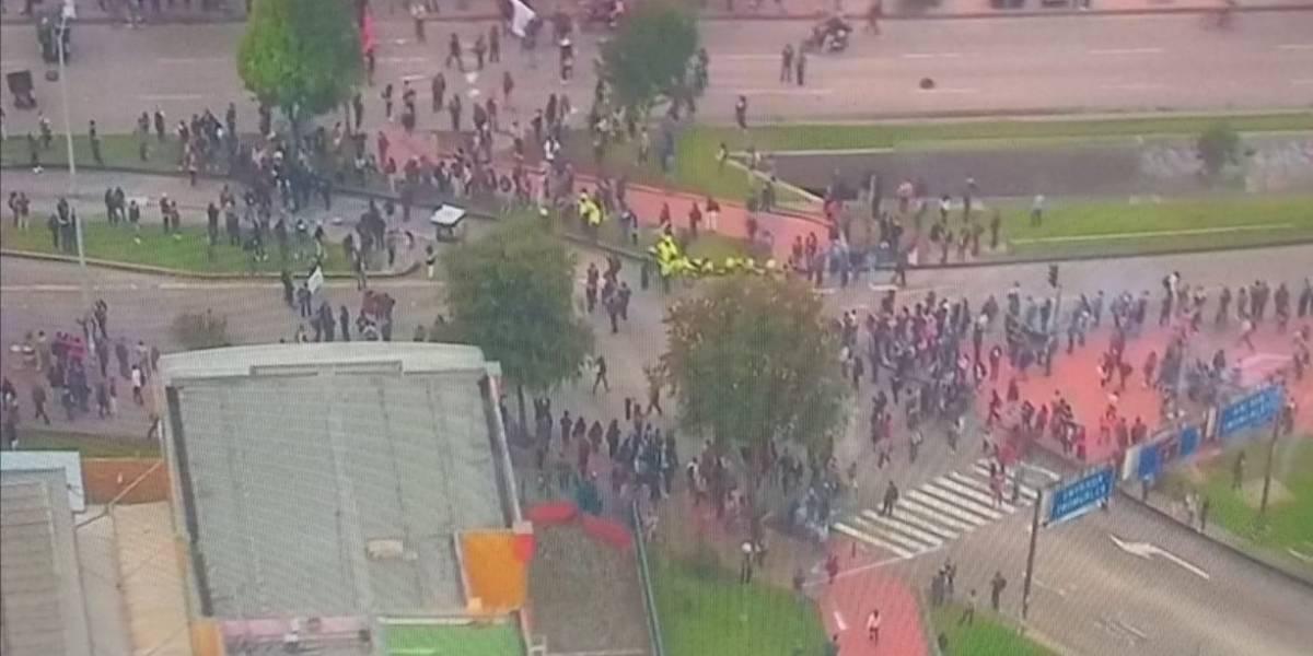 Bloqueos y manifestaciones cierran portales de TransMilenio