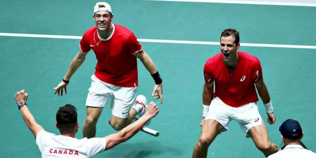 Canadá logra un histórico triunfo ante Australia y es el primer semifinalista en la Copa Davis