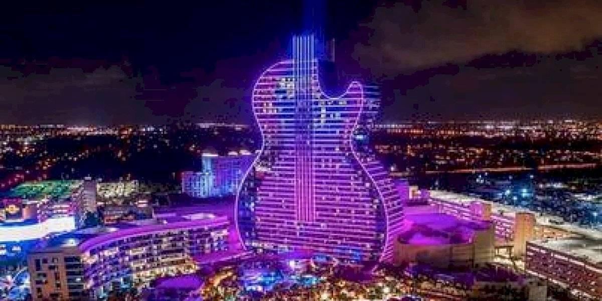 Hotel con forma de guitarra ya abrió sus cuerdas