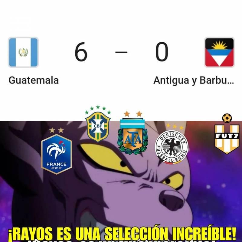 Memes partido selección nacional ante Antigua y Barbuda