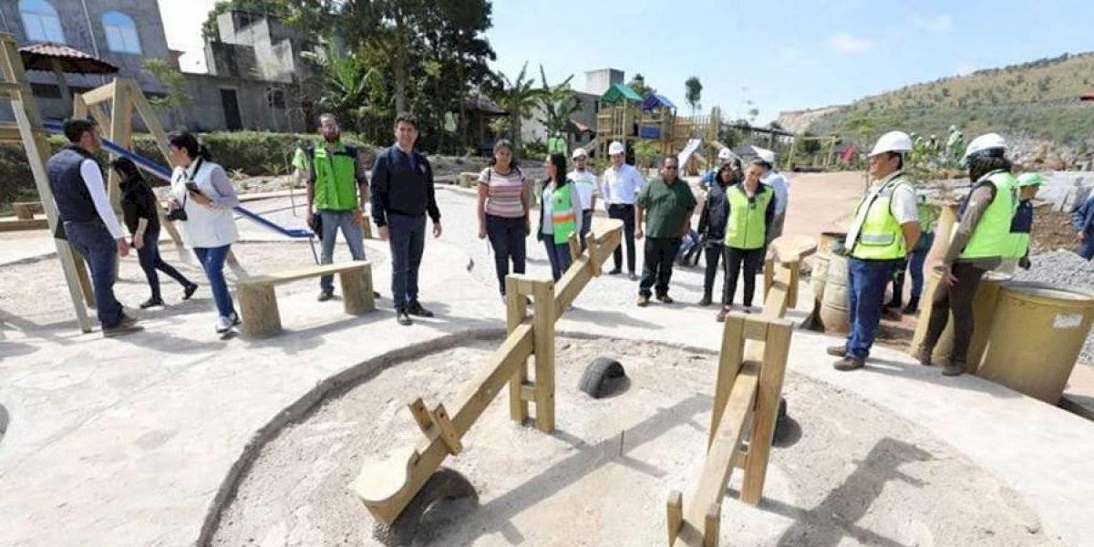 Parque ecológico Pinares, en la zona 18, se construye con inversión de Q2 millones