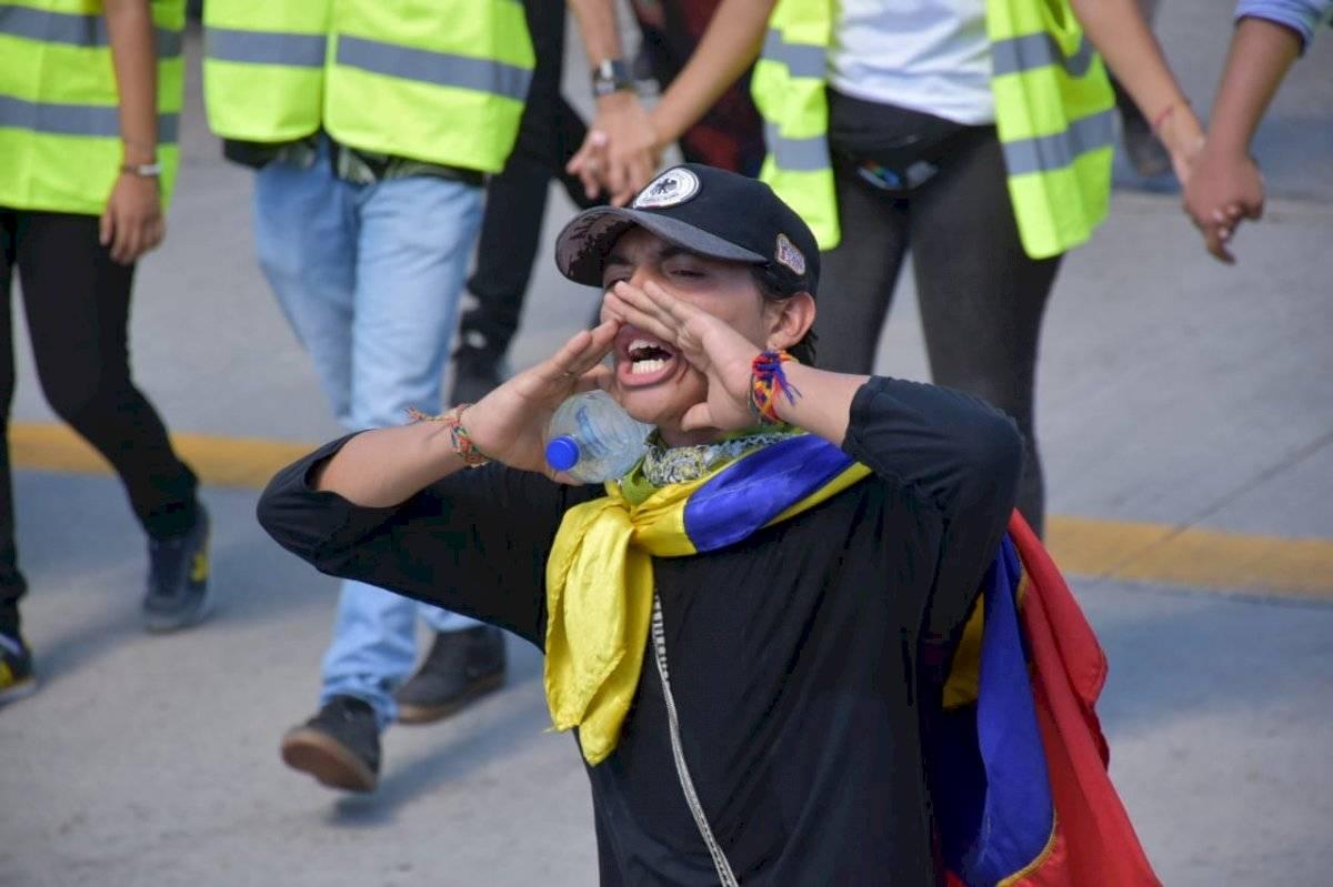 Gritos y consignas durante la movilización María Paula Suárez/Publimetro Colombia