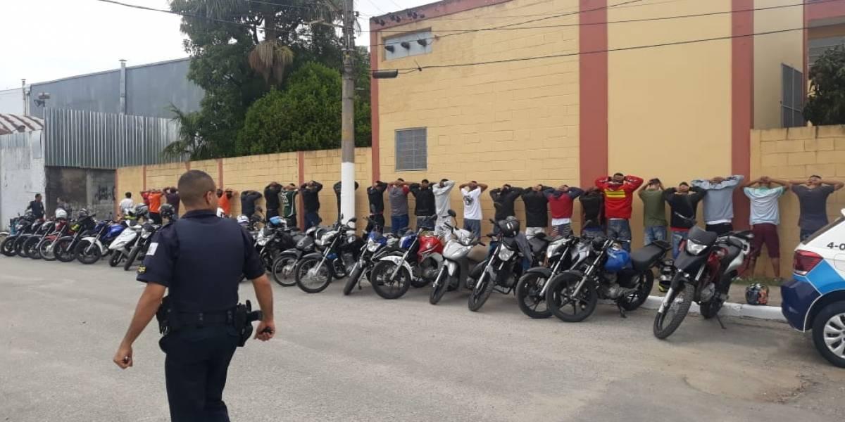 GCM de São Bernardo intercepta grupo que fazia racha com motos