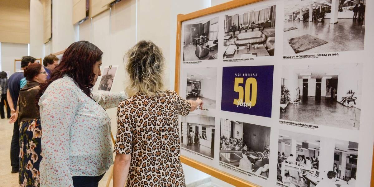 Salão Nobre do Paço de SBC é reinaugurado com exposição sobre história do prédio