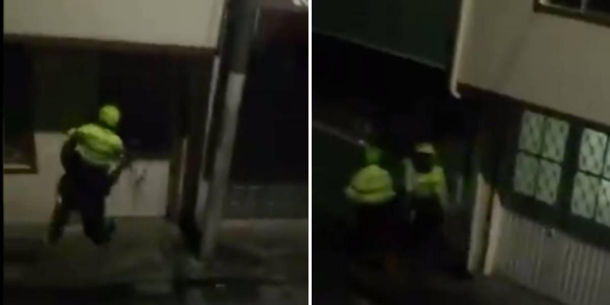 Denuncian a policías que estarían rompiendo los vidrios de casas en Colombia en el marco del paro nacional