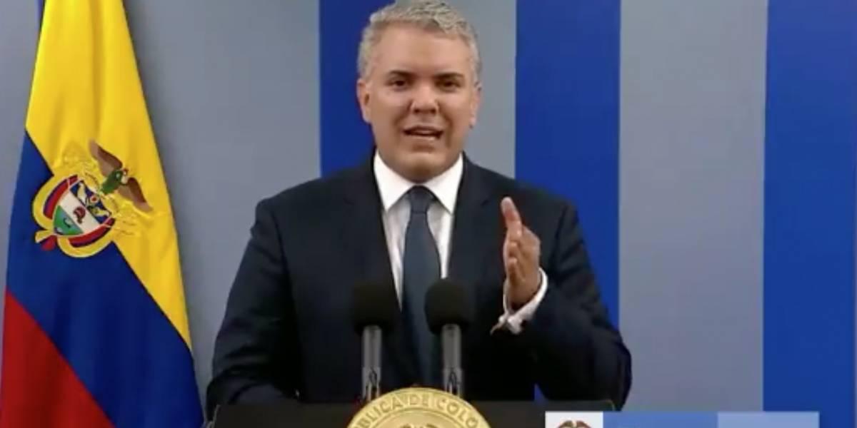 """El presidente de Colombia salió a hablar a lo Piñera luego del paro nacional: """"Hablaron los colombianos y el Gobierno los escucha"""""""