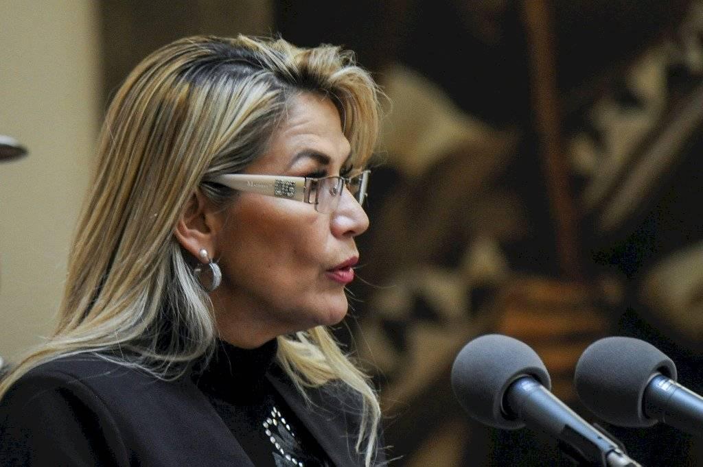 Jeanin Áñez,, presidenta interina de Bolivia