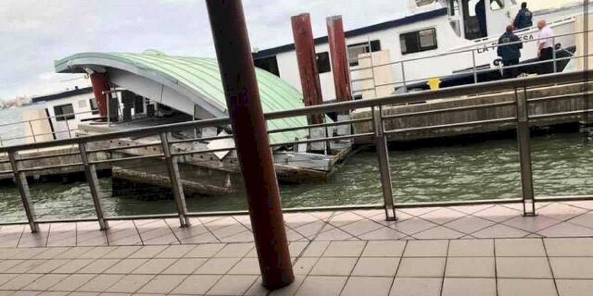 Colapsa techo en terminal de lanchas de Cataño