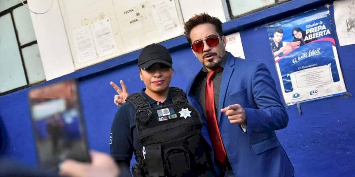 'Tony Stark' visita Guanajuato; se reúne con policías y autoridades
