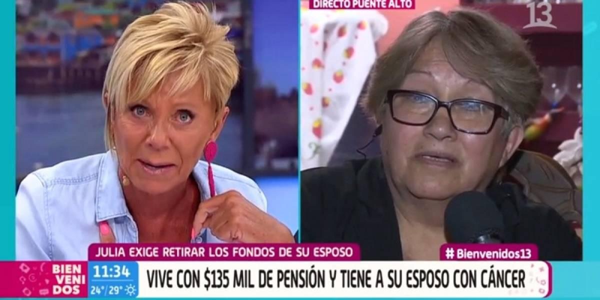 """""""Critiquen lo que quieran"""": el solidario gesto de Raquel Argandoña con señora afectada por bajas pensiones y cáncer de su marido"""