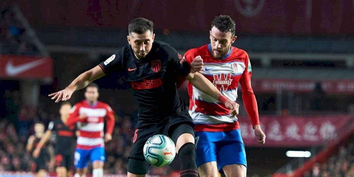 Héctor Herrera da asistencia pero Atlético de Madrid empata ante Granada