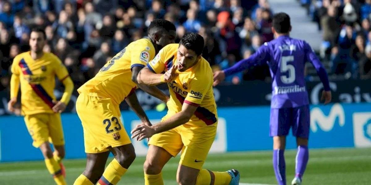 Barcelona sufre para ganarle al Leganés