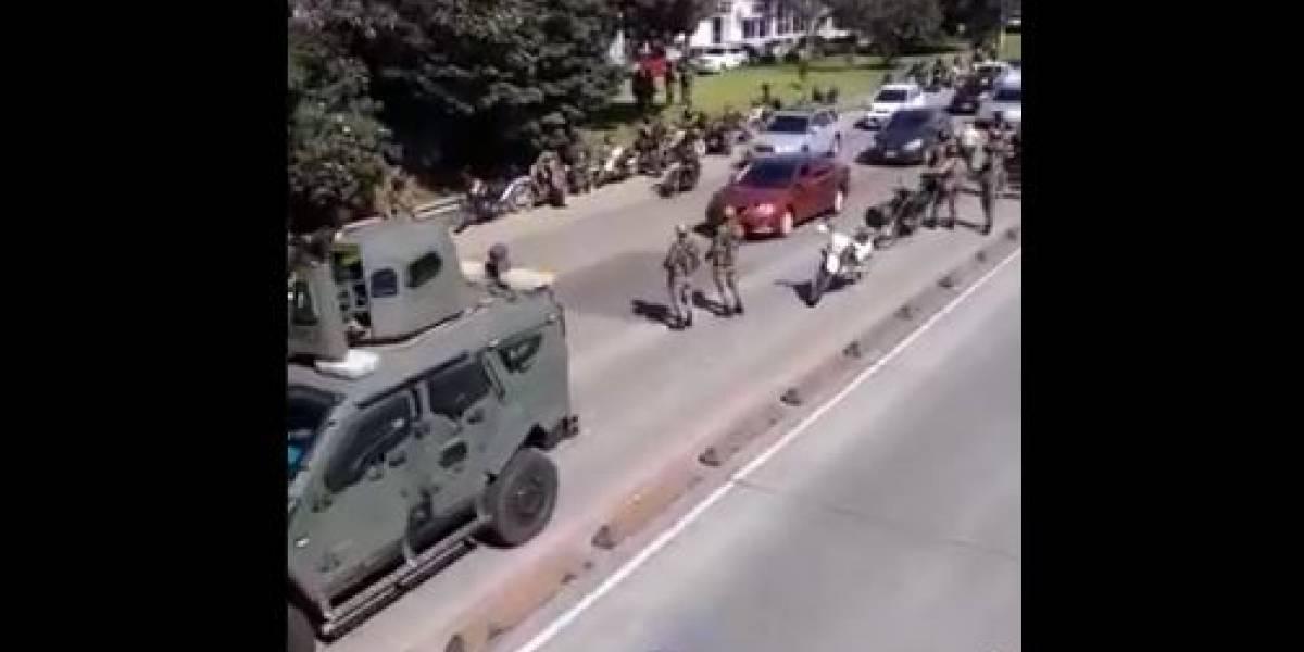 (VIDEO) Así lucen las calles de Bogotá militarizada por el ejército