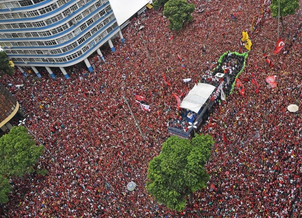 Foto AFP   Hasta el momento no hay una cifra específica de cuántas personas asistieron a la celebración del Flamengo