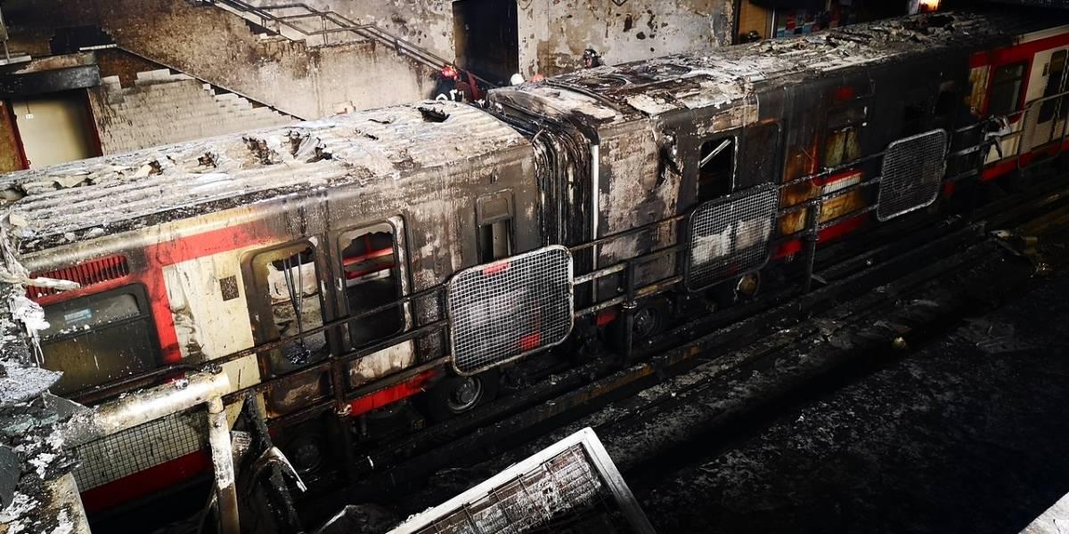 PDI detiene a dos responsables por incendios en estación El Sol del Metro