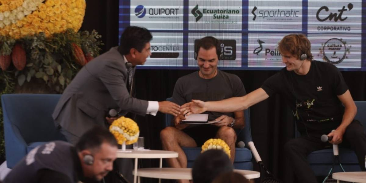 Roger Federer llega a Quito y recibe la llave de la capital