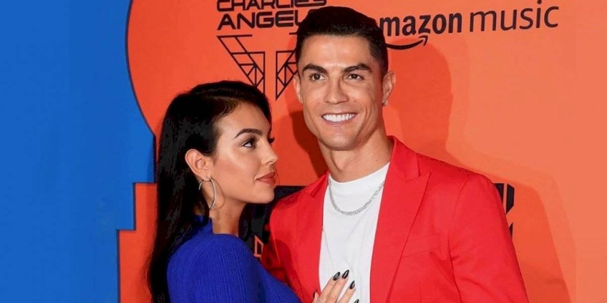 Georgina Rodríguez presume el beso que le dio Cristiano Ronaldo
