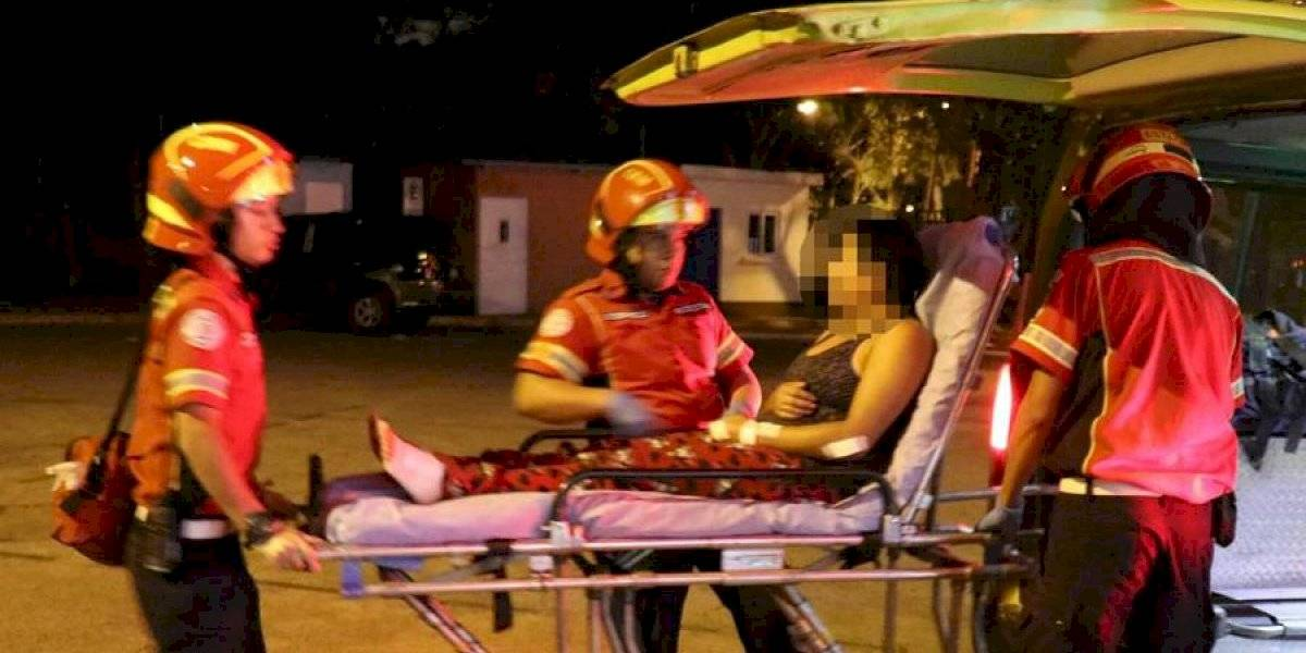 Mujer es trasladada a centro asistencial con heridas provocadas por un pitbull