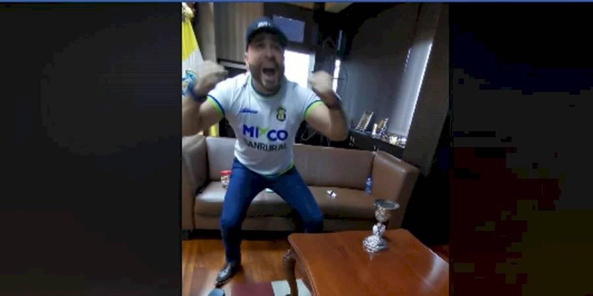 VIDEO. Neto Bran celebra efusivamente uno de los goles de Deportivo Mixco