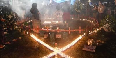 Vigilia en el Parque Central en conmemoración a las mujeres que han muerto violentamente