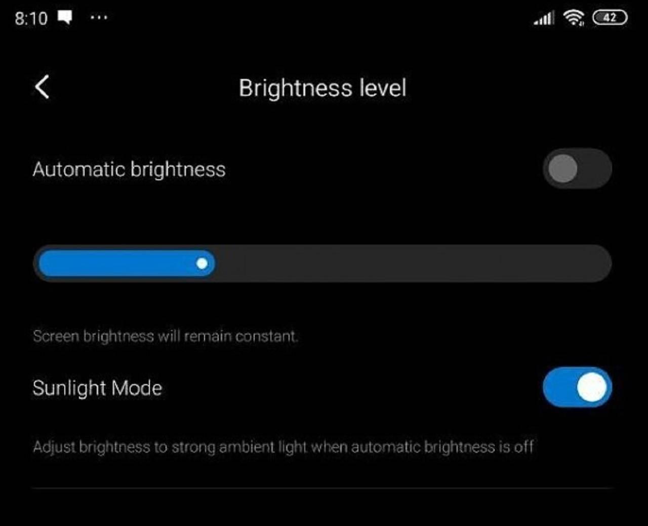 Xioami activa función para mejorar la visión de la pantalla del móvil en pleno sol