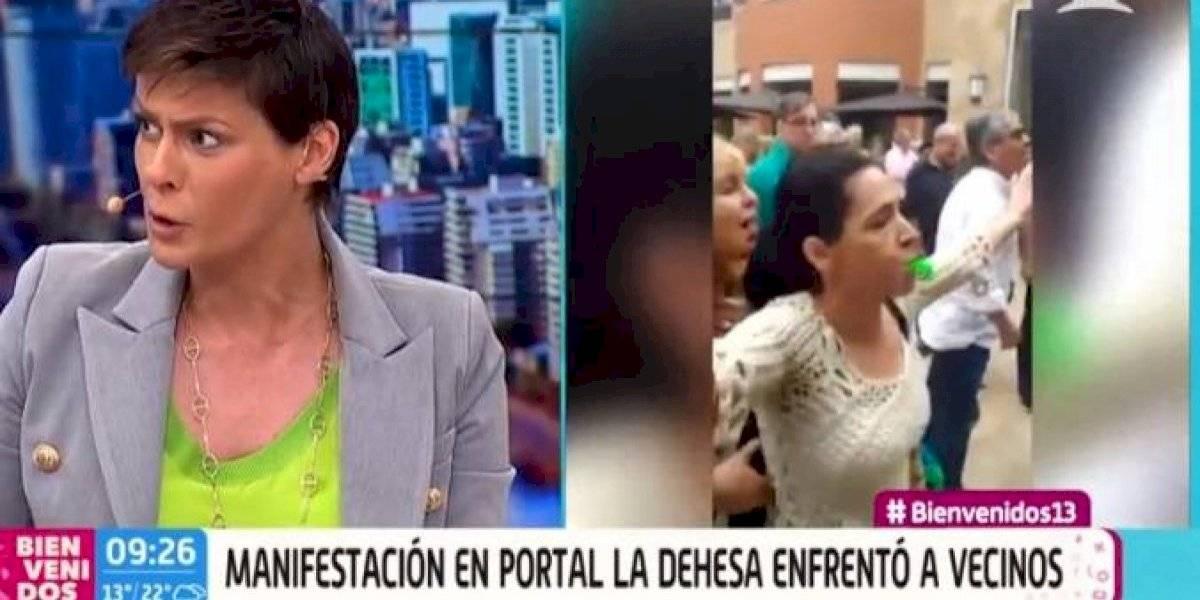 """""""¿Cómo no va a ser violento?"""": Tonka Tomicic explotó en pantalla tras insólita """"explicación"""" de Carlos Montes sobre manifestación en Portal La Dehesa"""