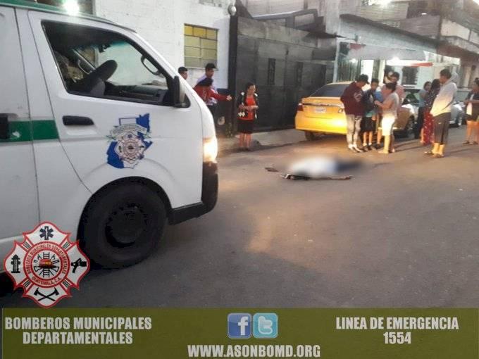 mujer fallecida en zona 5 de Villa Nueva