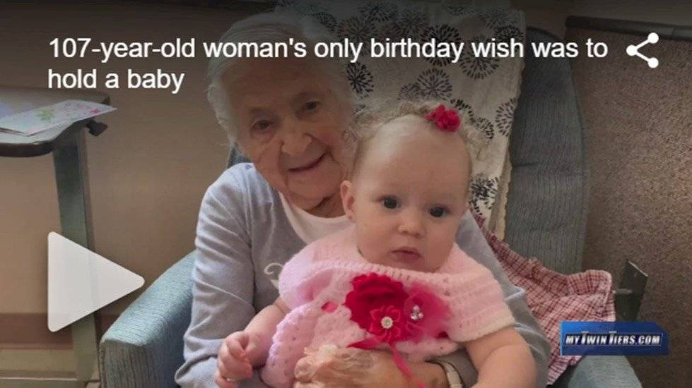 Regalo de cumpleaños de una abuela de 107 años