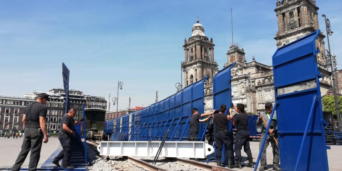 Blindan monumentos y negocios previo a marcha #NiUnaMenos