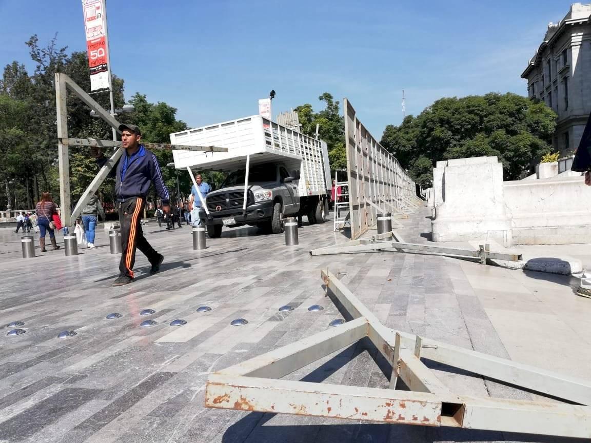 Blindan monumentos y negocios previo a marcha #25N