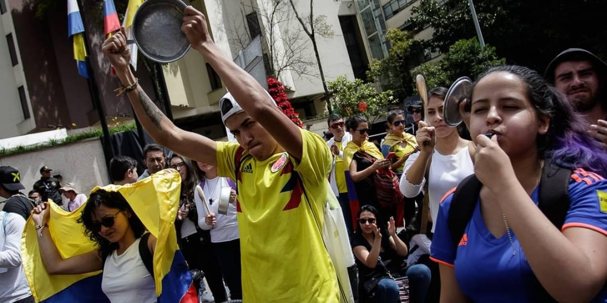 Así avanzan las marchas de este jueves en Bogotá