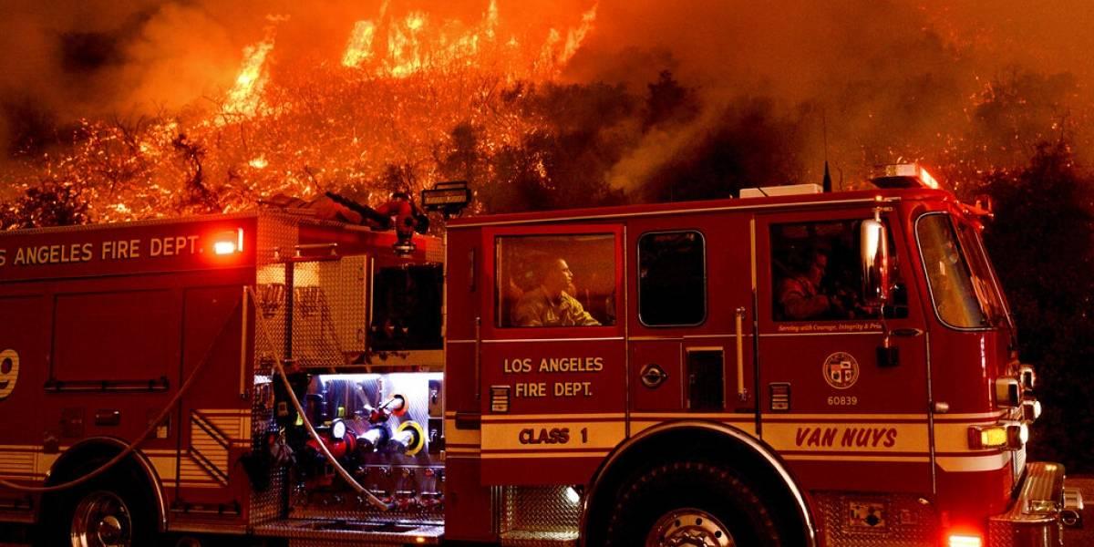 Se movilizan en Chile por incendios forestales