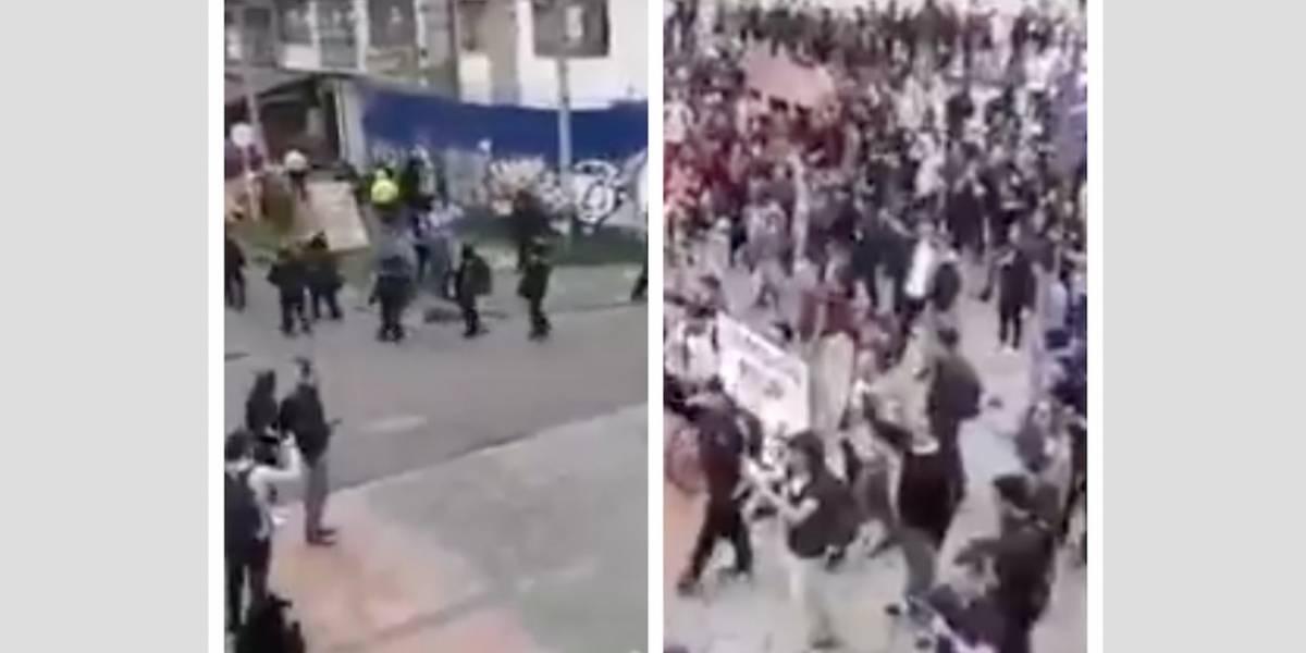 (VIDEO) Esmad se retira de la universidad Nacional ante el rechazo ciudadano