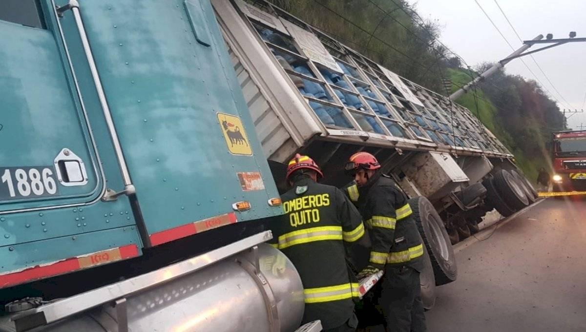 Accidente en Autopista General Rumiñahui