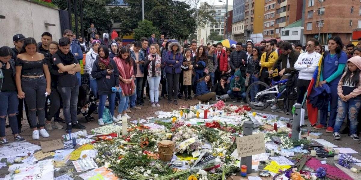 Avanzan las manifestaciones y los homenajes a Dilan Cruz en Bogotá
