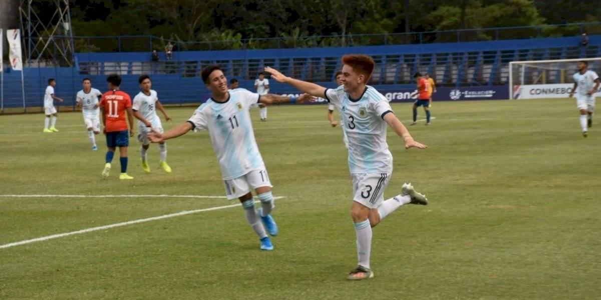 La Roja Sub 15 no pudo contra Argentina y terminó goleada en el Sudamericano de la categoría