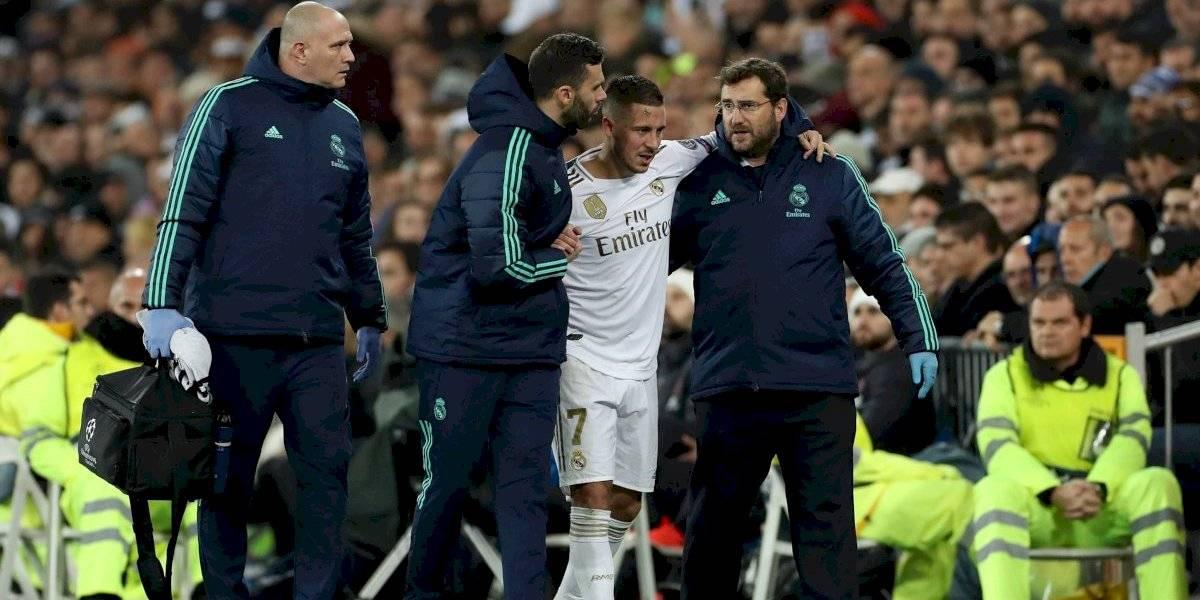 VIDEO: Eden Hazard sale del Bernabéu lesionado