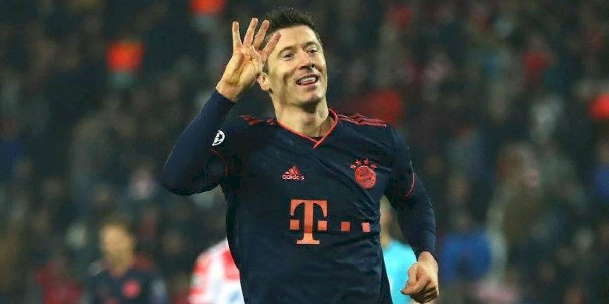 Robert Lewandowski sigue en estado de gracia y le anotó cuatro goles al Estrella Roja