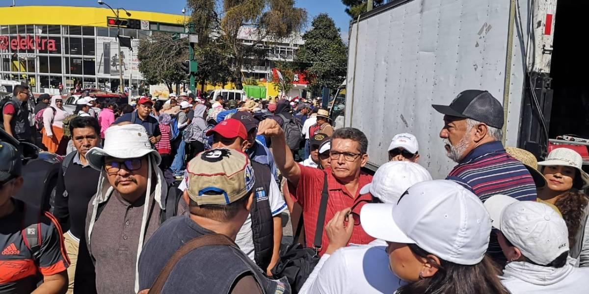 Sindicalista Joviel Acevedo pide respetar Presupuesto en masiva manifestación