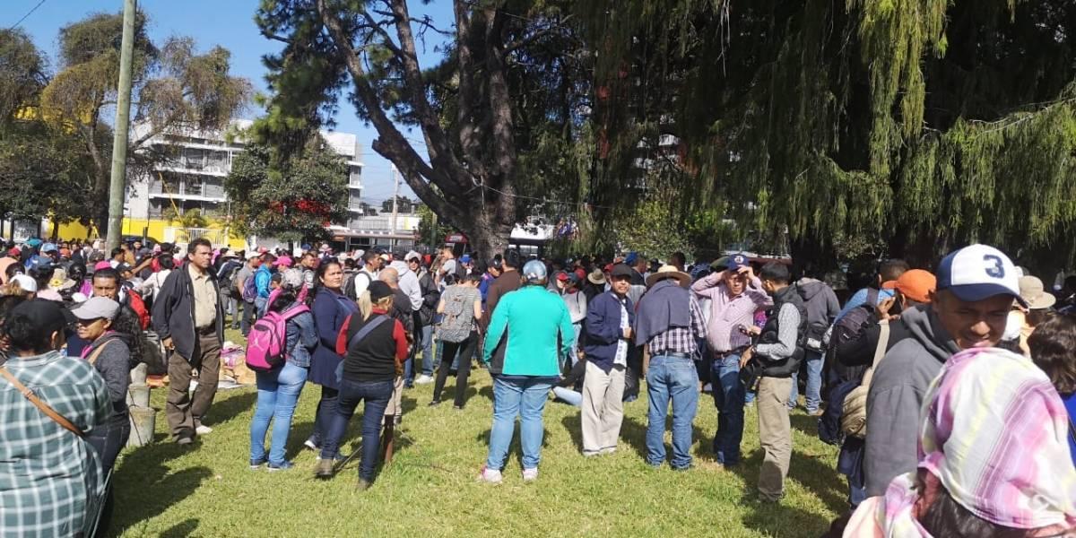 Manifestaciones complican el tránsito en la capital y ruta Interamericana