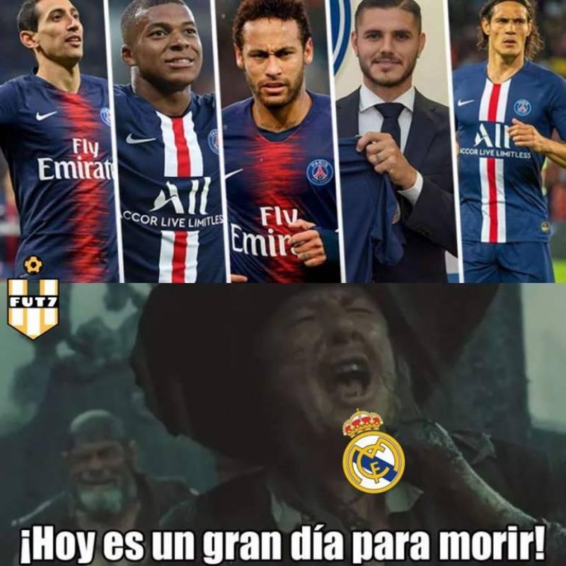 Meme 1 Real Madrid vs PSG