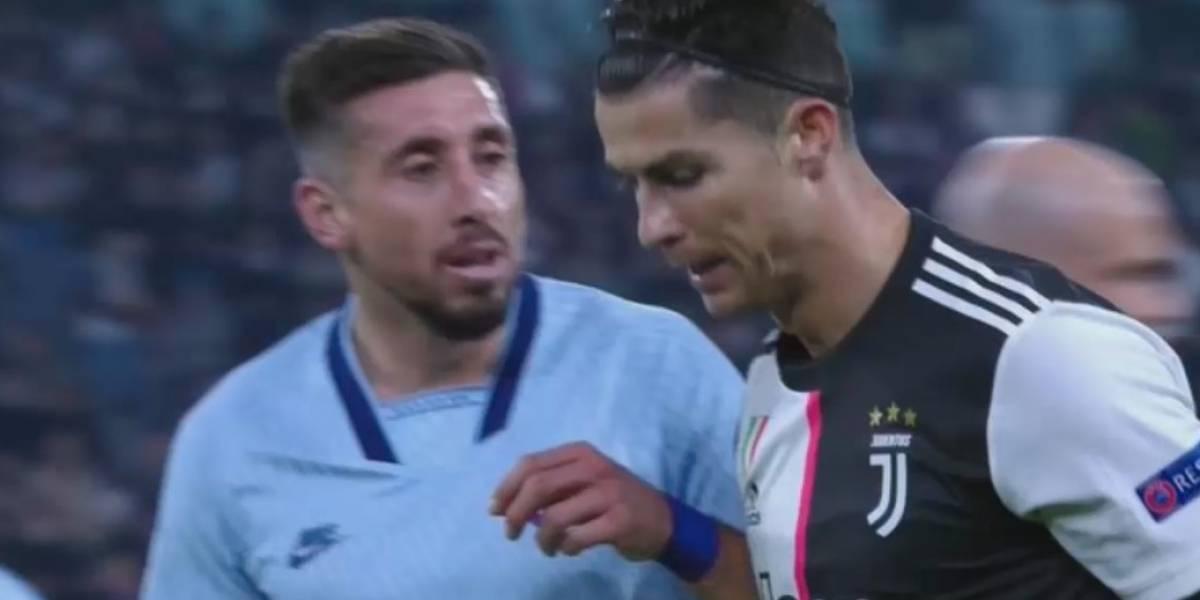 VIDEO: Héctor Herrera pelea con Cristiano en partido de la Champions