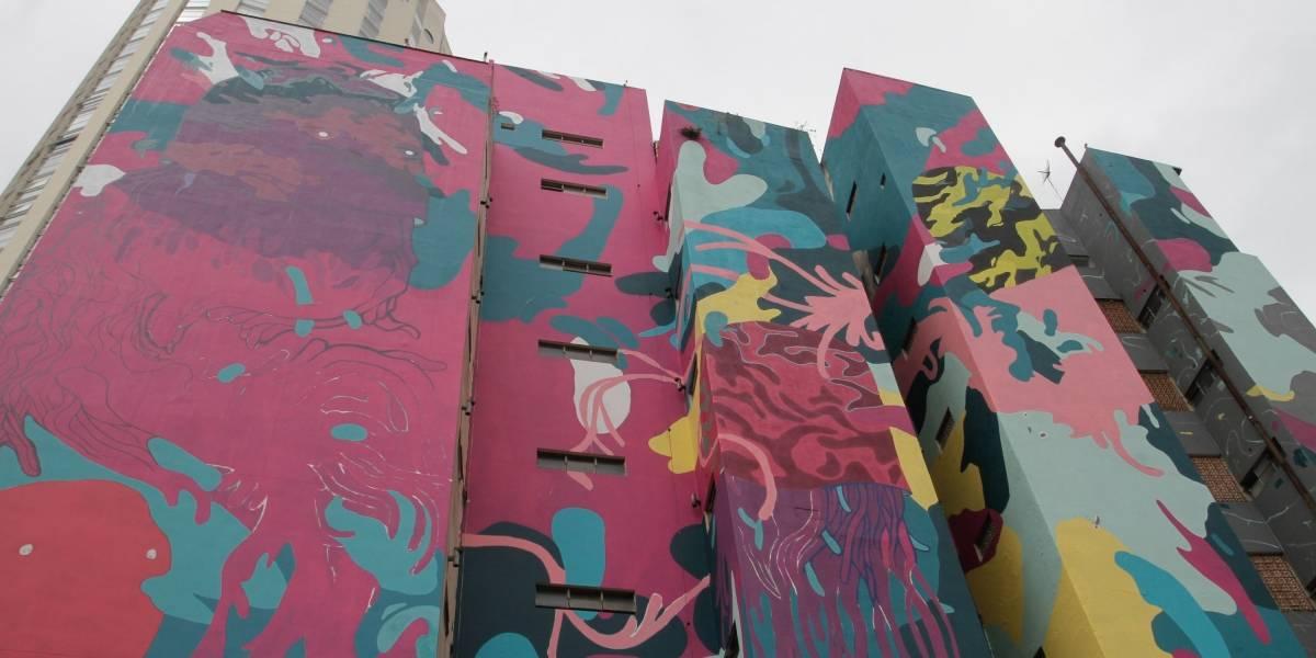 Artista de projeto ambicioso de grafite em São Paulo é detido por pintar prédio sem autorização