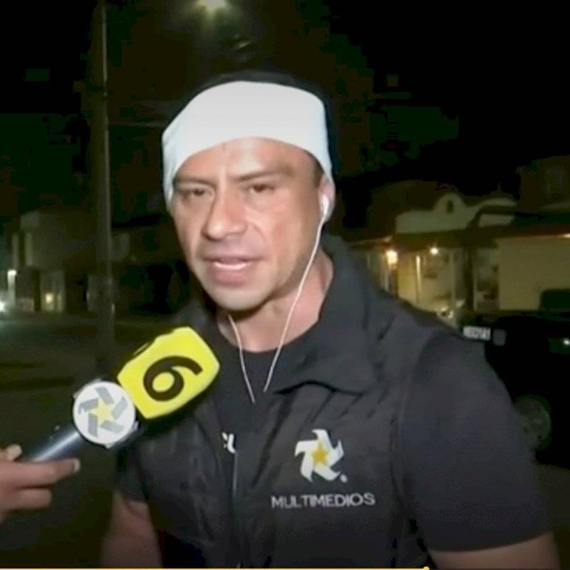 Cerdo ataca a reportero durante transmisión en vivo en Grecia
