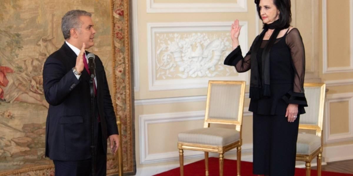 Iván Duque posesionó a Claudia Blum como nueva Canciller