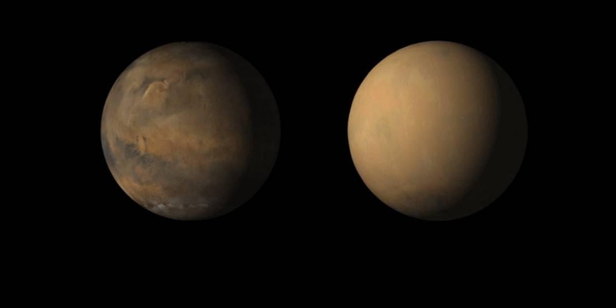 Cientistas da NASA descobrem intrigante fenômeno que cria gigantescas nuvens de poeira em Marte