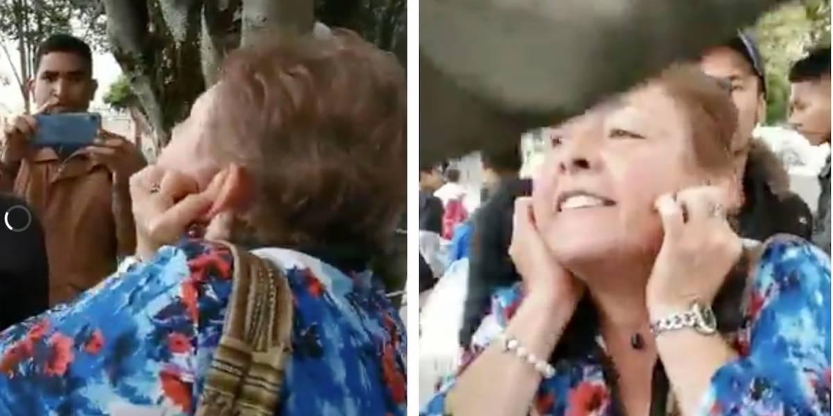 """(VIDEO) """"Dilan se suicidó"""": grita mujer en medio de una manifestación en Bogotá"""