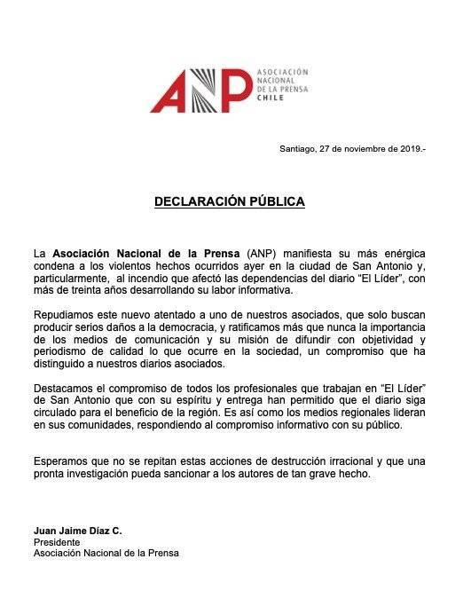 Comunicado ANP