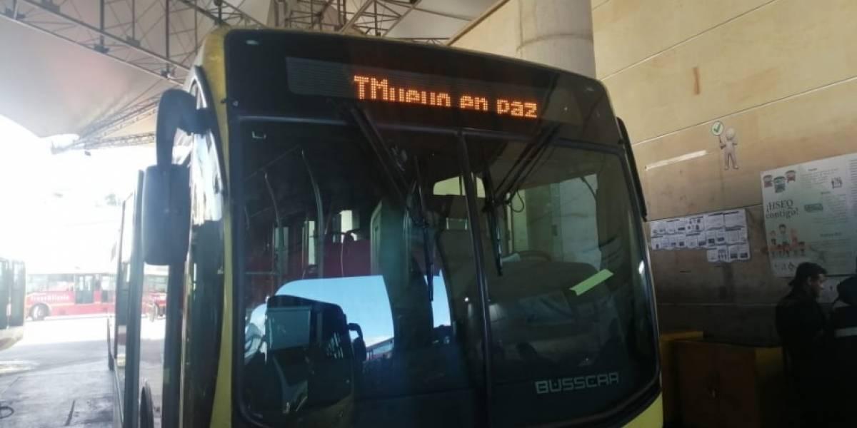 Cierre de TransMilenio será más temprano este 27N