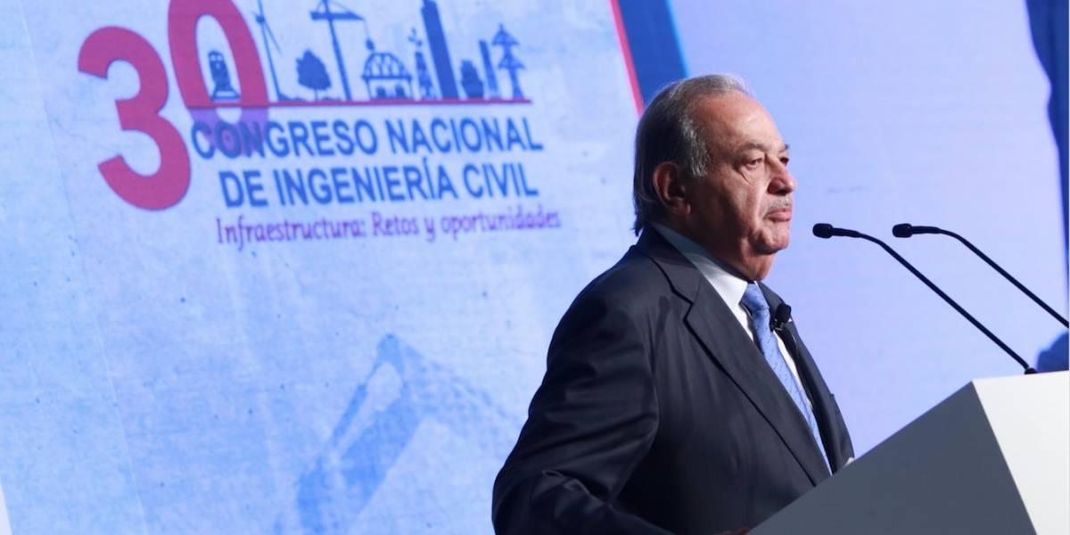 Inversión anual en infraestructura debe superar 5% del PIB: Carlos Slim